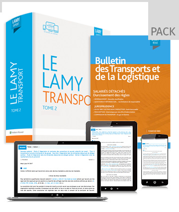 Pack droit du transport fer/mer/air